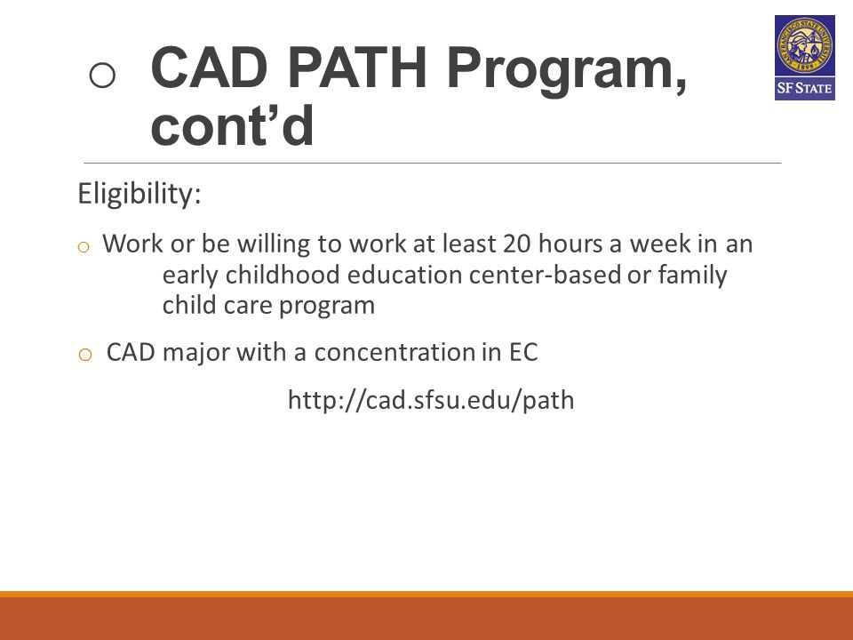 CAD PATH Program, cont'd