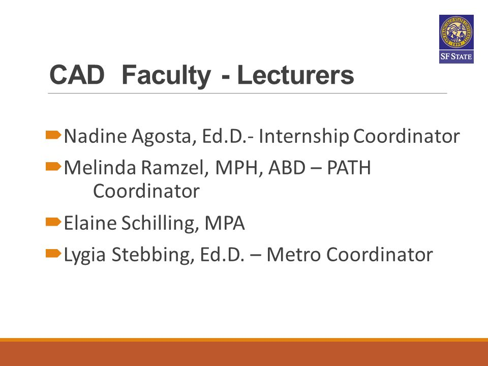 CAD Faculty - Lecturers