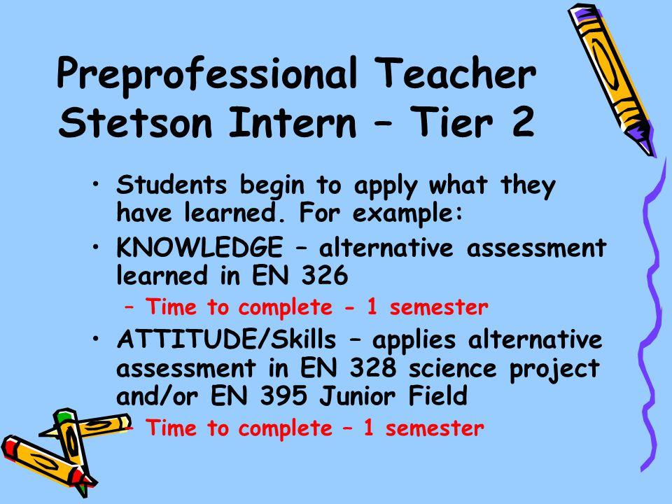 Preprofessional Teacher Stetson Intern – Tier 2