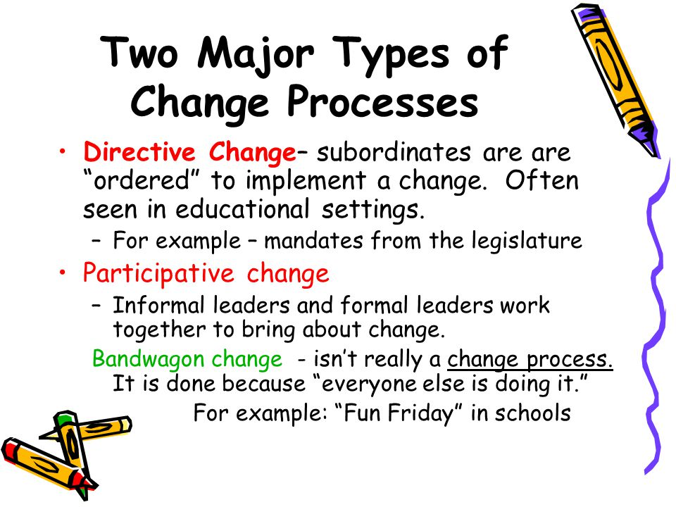 Two Major Types of Change Processes