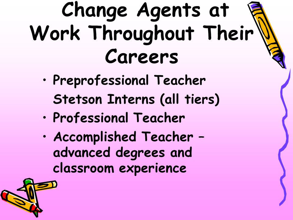 Change Agents at Work Throughout Their Careers