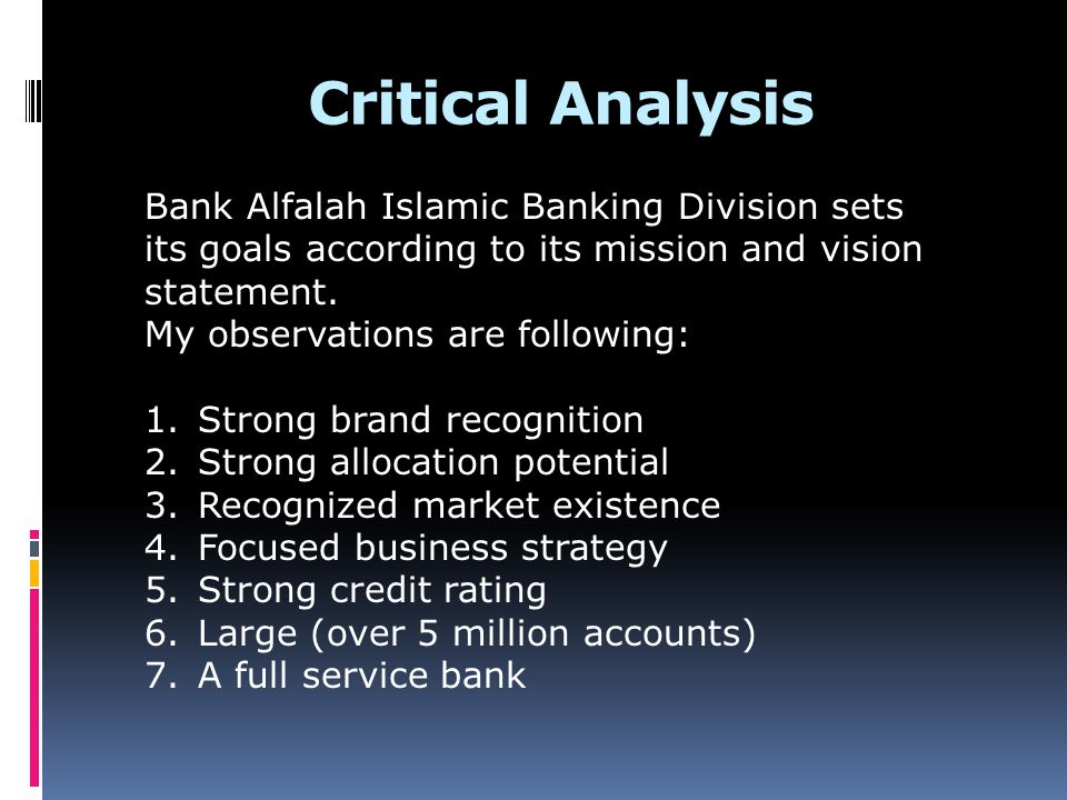 vision and goals for bank alfalah Vision mission  values & goals board of directors about us  alinma bank and the social development bank establish a program to promote.