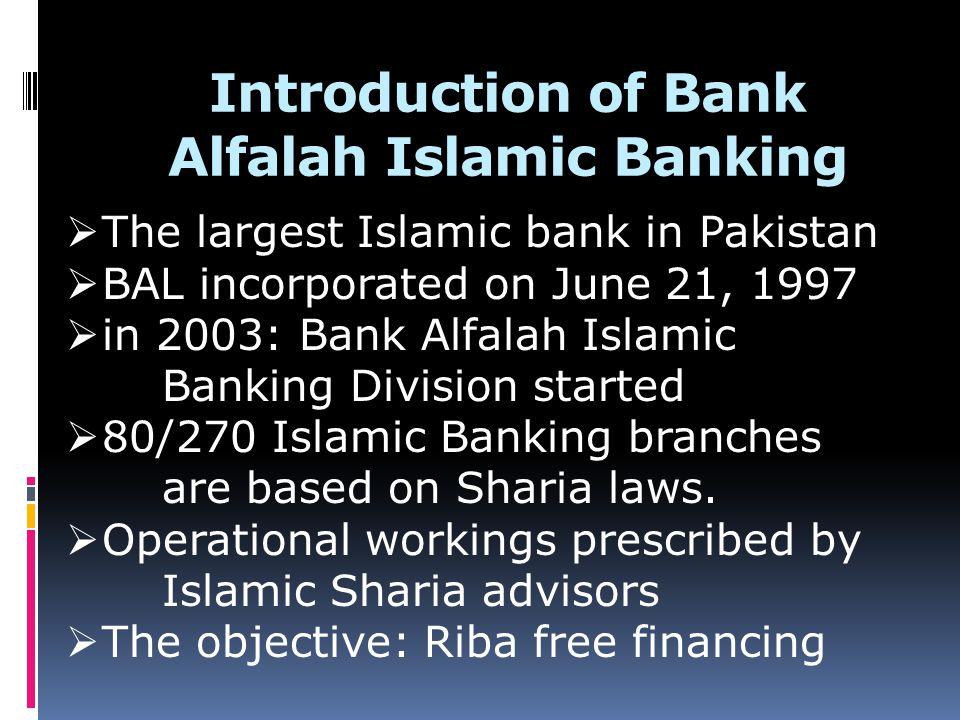 Introduction of Bank Alfalah Islamic Banking