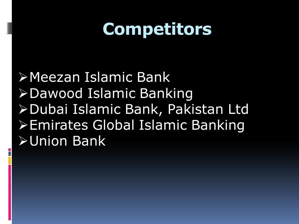 Competitors Meezan Islamic Bank Dawood Islamic Banking