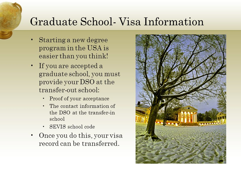 Graduate School- Visa Information