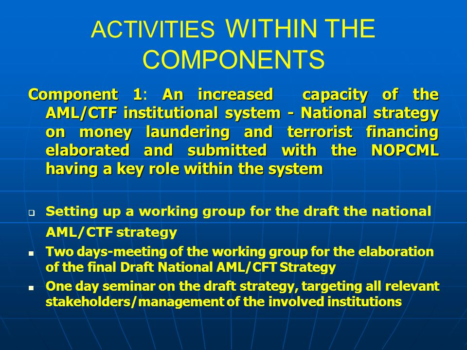ACTIVITIES WITHIN THE COMPONENTS