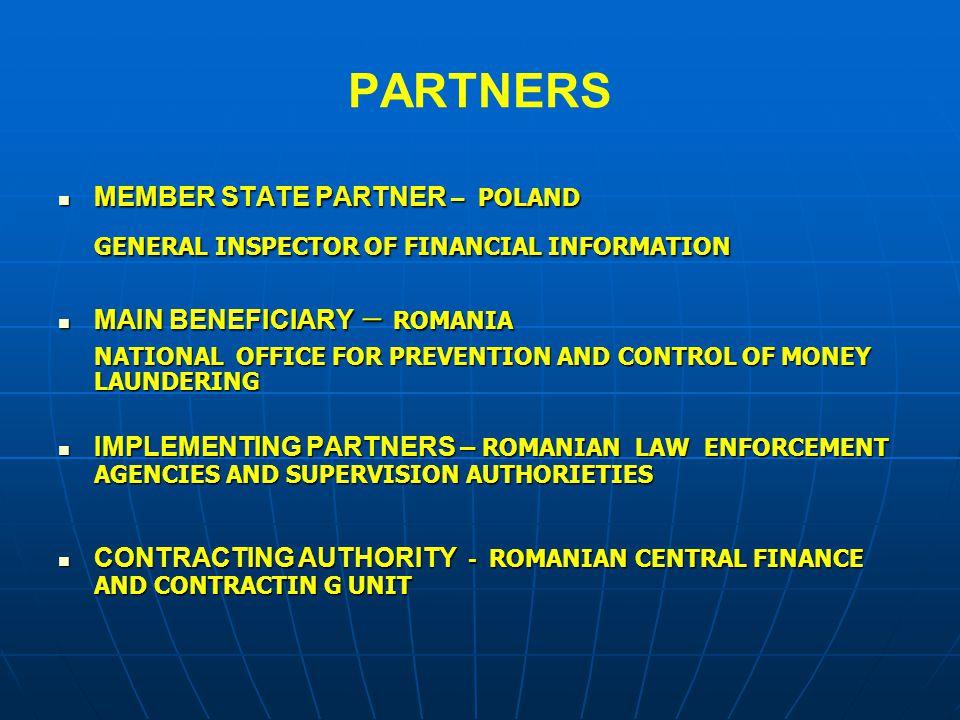 PARTNERS MEMBER STATE PARTNER – POLAND MAIN BENEFICIARY – ROMANIA
