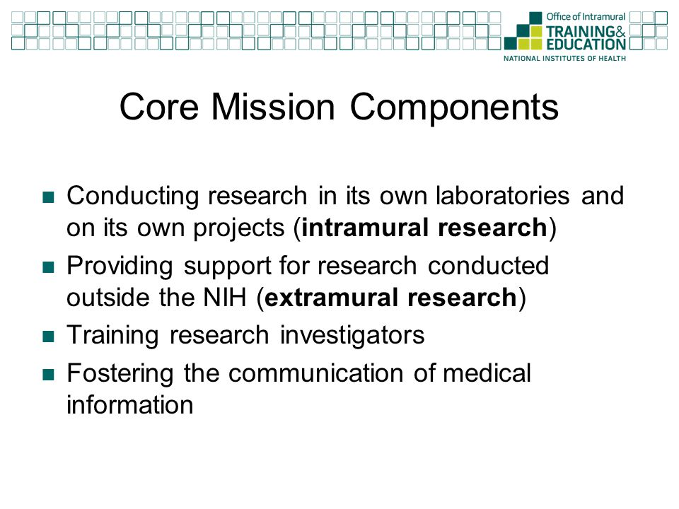 Core Mission Components