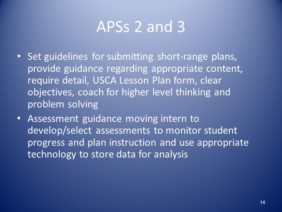 APSs 2 and 3