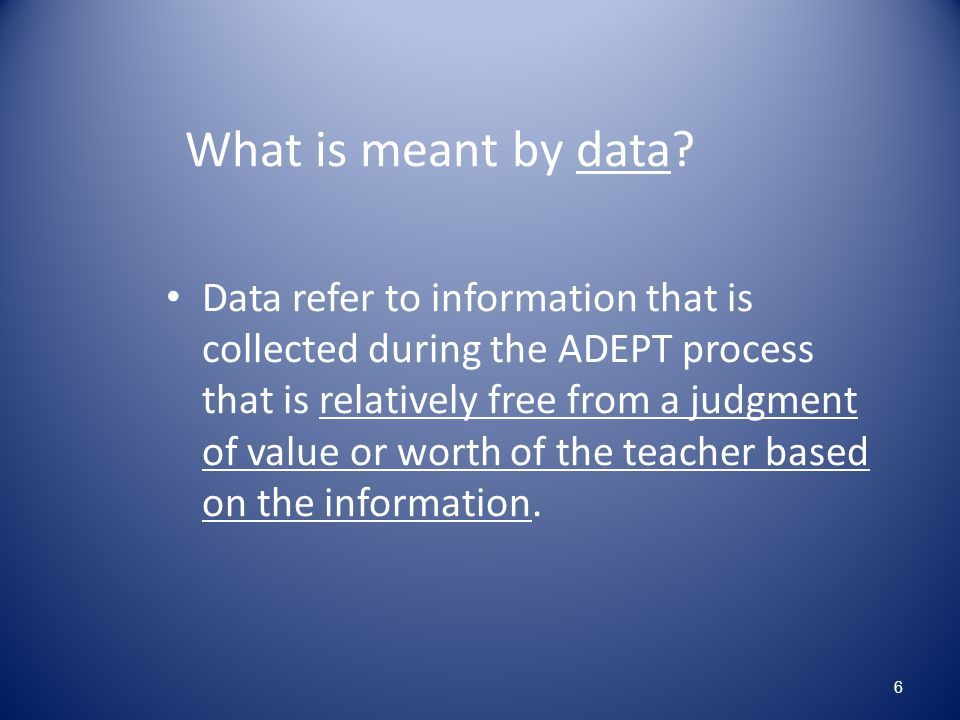 What is meant by data