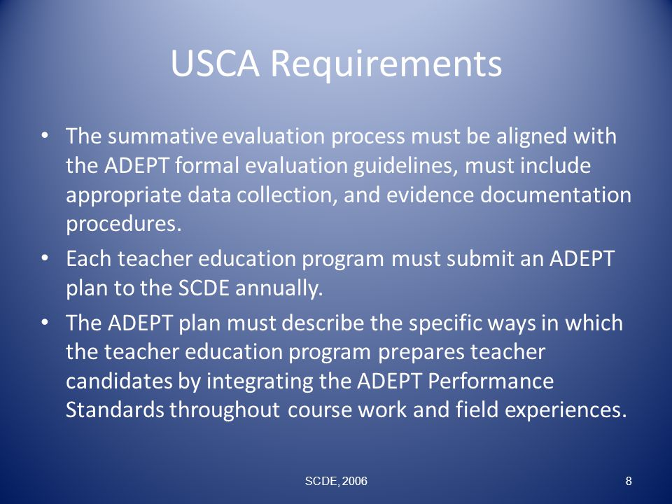 USCA Requirements