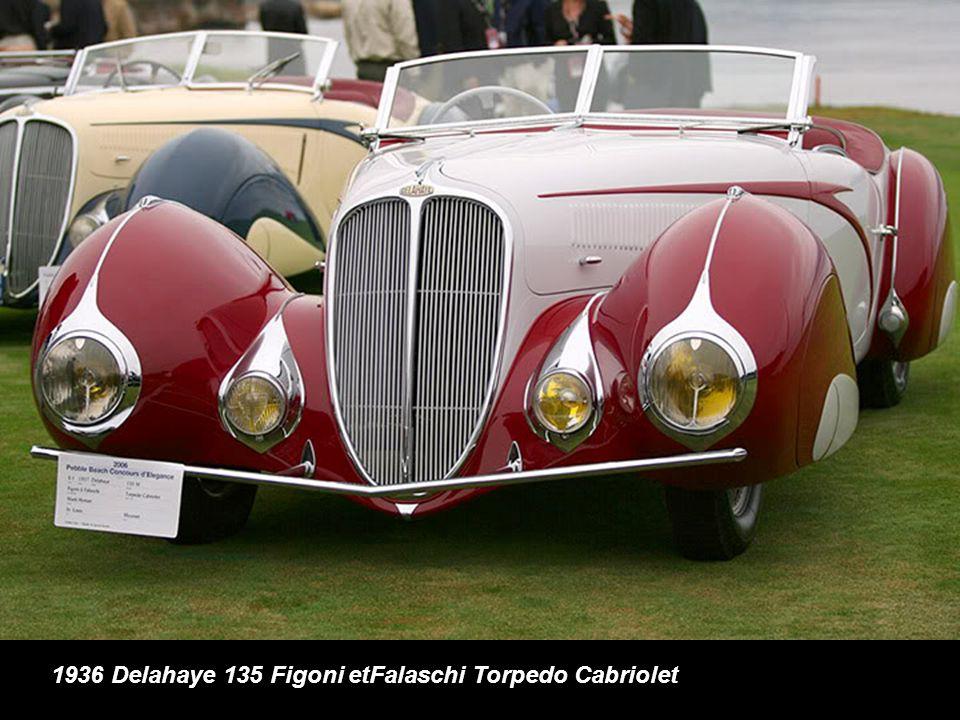1936 Delahaye 135 Figoni etFalaschi Torpedo Cabriolet