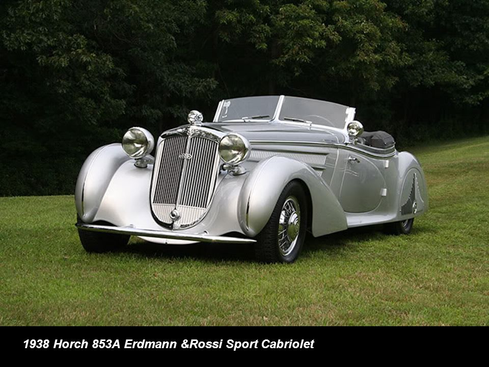 1938 Horch 853A Erdmann &Rossi Sport Cabriolet
