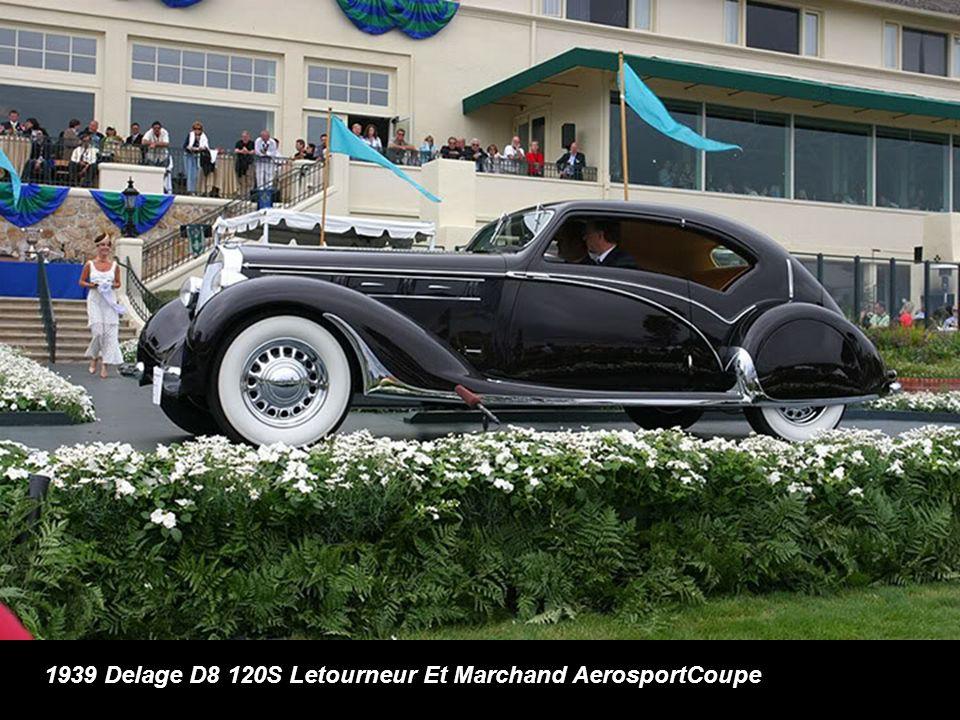 1939 Delage D8 120S Letourneur Et Marchand AerosportCoupe