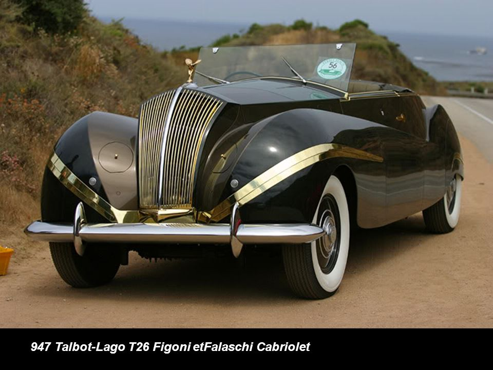 947 Talbot-Lago T26 Figoni etFalaschi Cabriolet