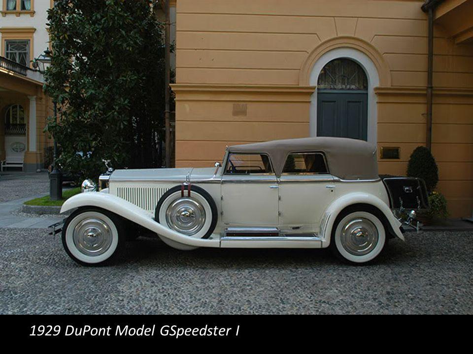 1929 DuPont Model GSpeedster I