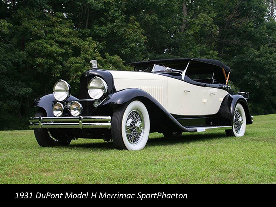 1931 DuPont Model H Merrimac SportPhaeton
