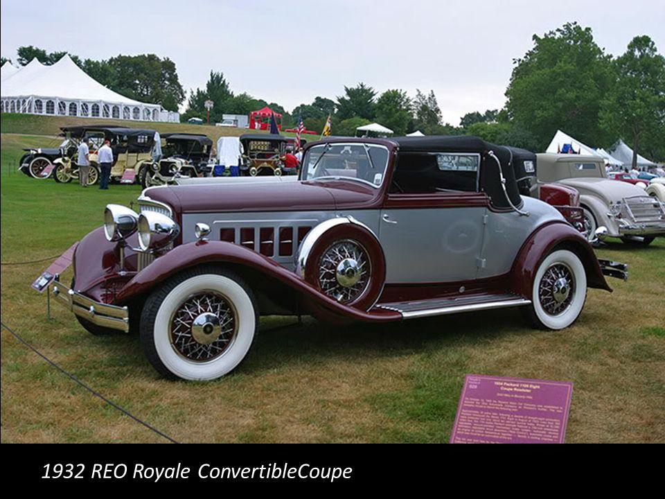 1932 REO Royale ConvertibleCoupe