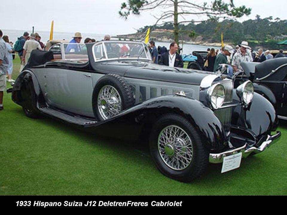 1933 Hispano Suiza J12 DeletrenFreres Cabriolet