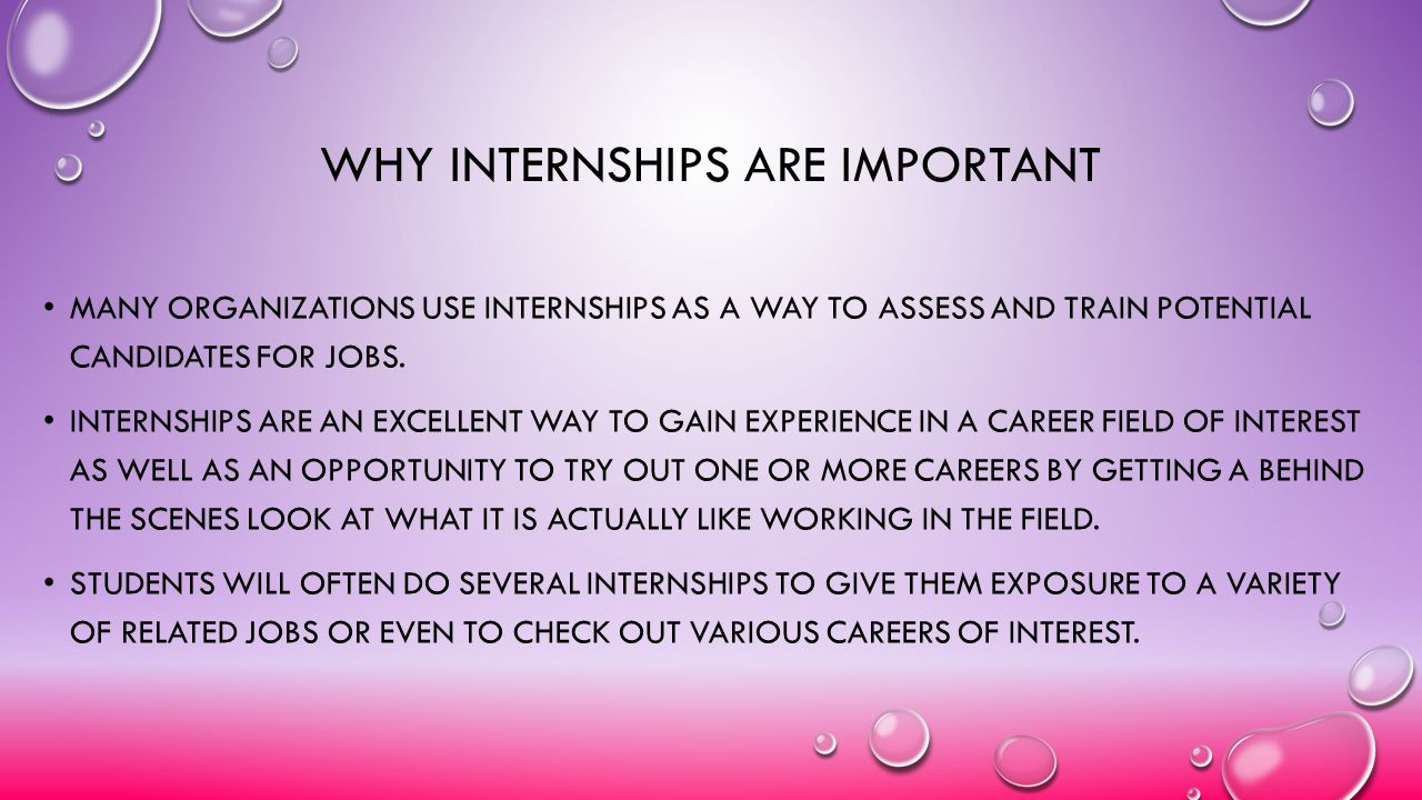 Why internships are important