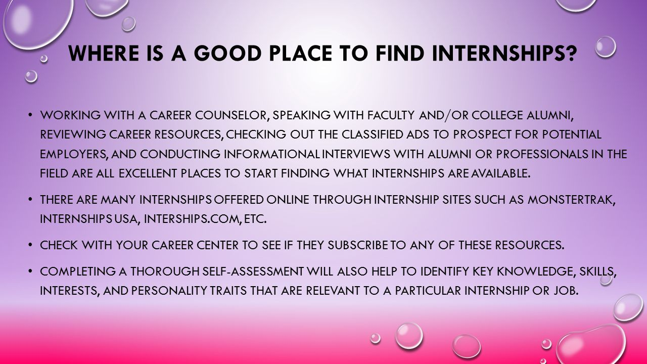 Where Is a Good Place to Find Internships