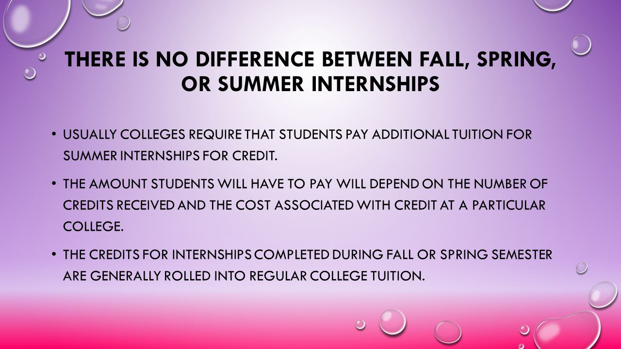 There is No Difference Between Fall, Spring, or Summer Internships