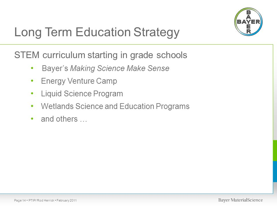 Long Term Education Strategy