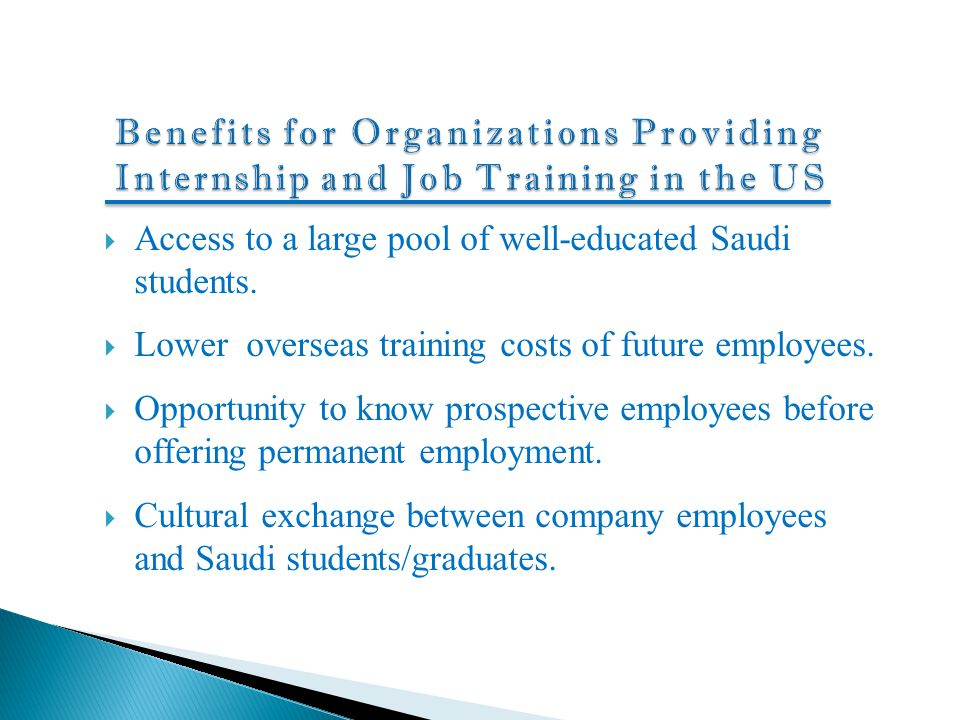 Benefits for Organizations Providing Internship and Job Training in the US