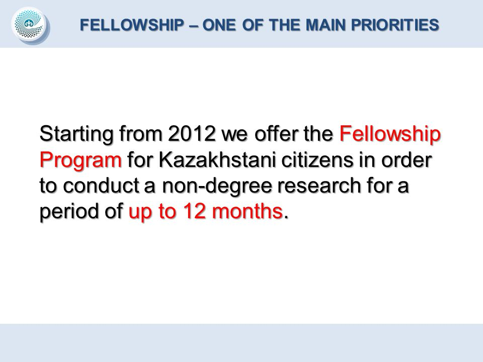 FELLOWSHIP – ONE OF THE MAIN PRIORITIES