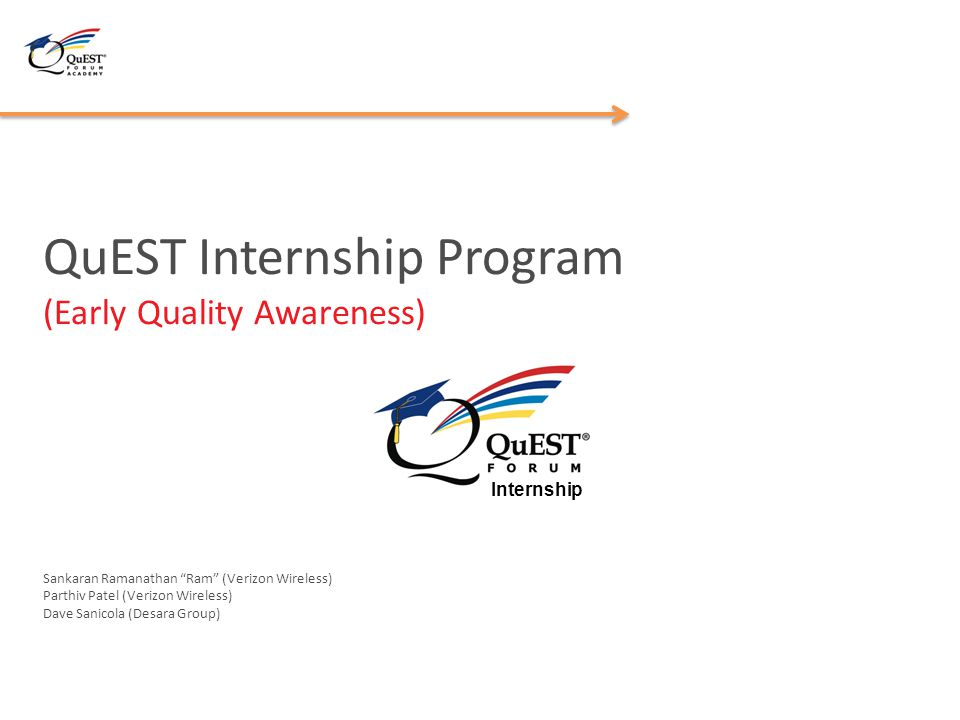 QuEST Internship Program (Early Quality Awareness)