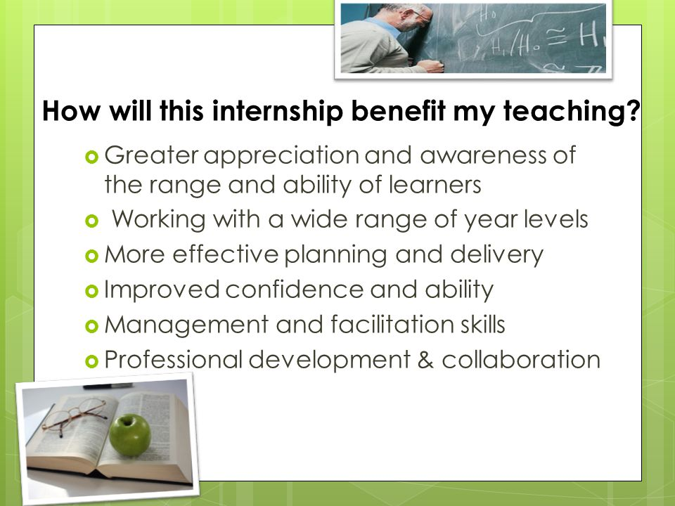 How will this internship benefit my teaching