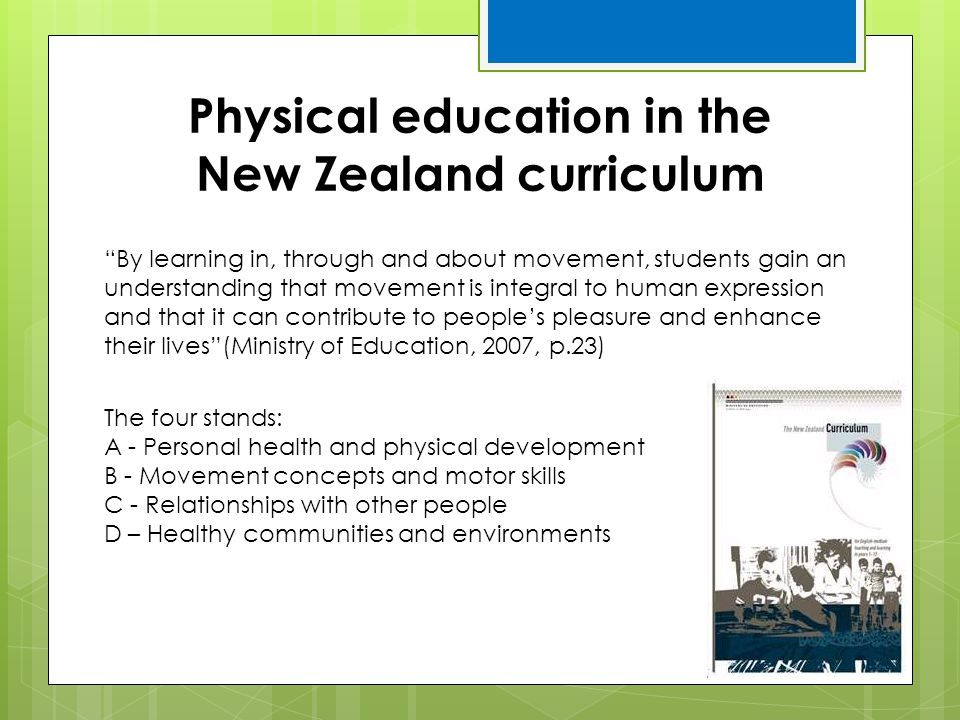 Physical education in the New Zealand curriculum