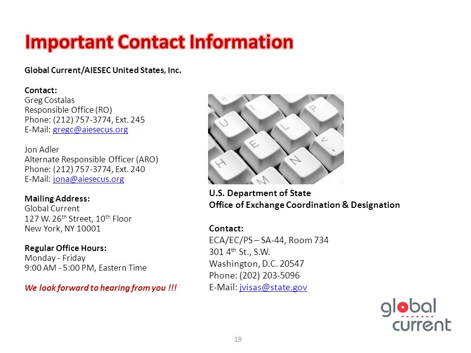 Important Contact Information