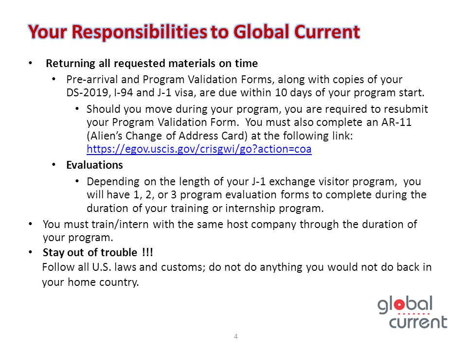 Your Responsibilities to Global Current