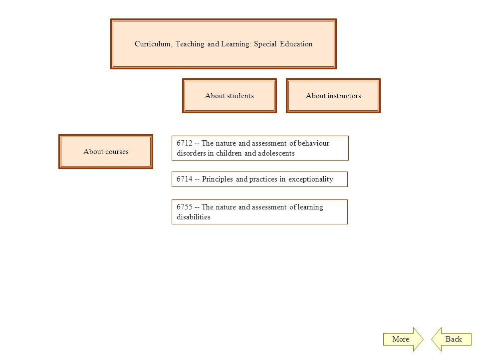 Curriculum, Teaching and Learning: Special Education