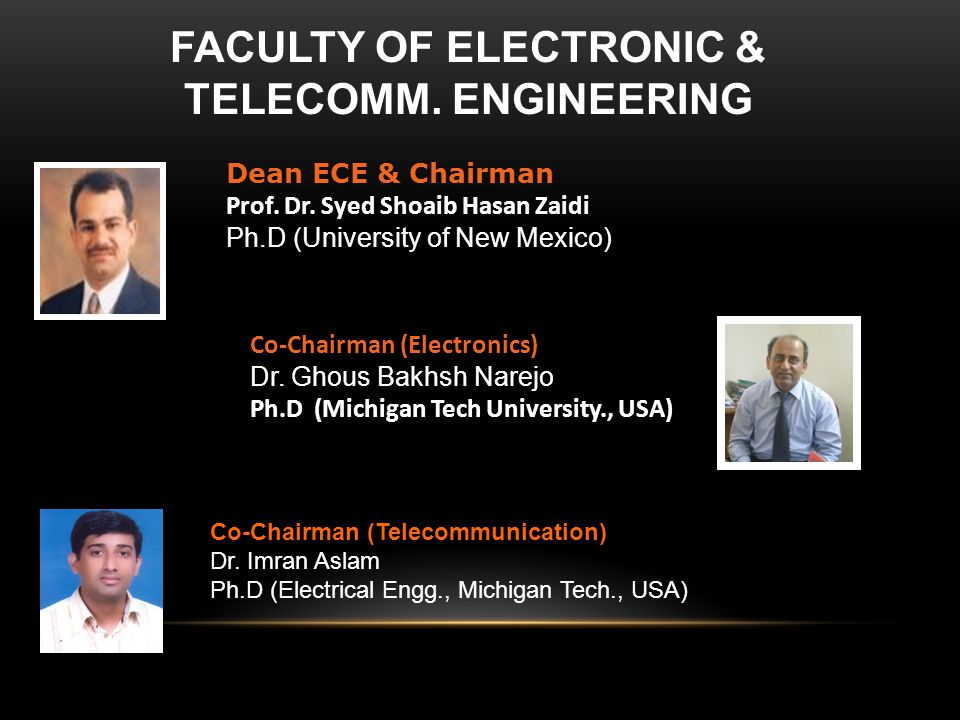 Faculty of Electronic & Telecomm. Engineering