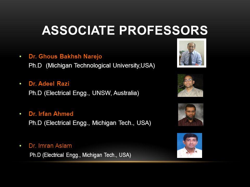 Associate professors Dr. Ghous Bakhsh Narejo Dr. Adeel Razi