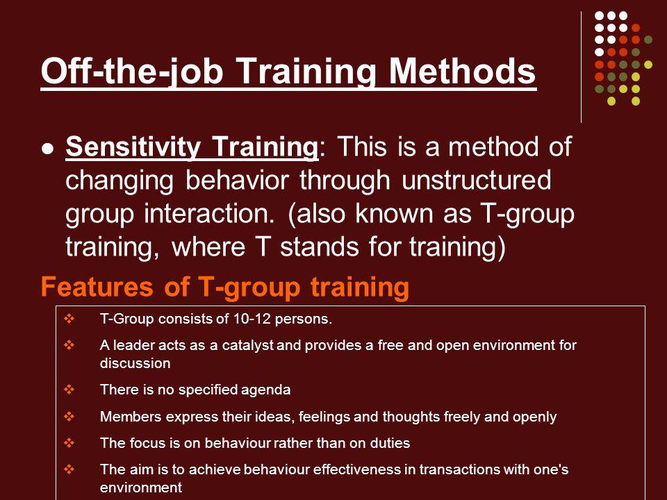 training and development methods