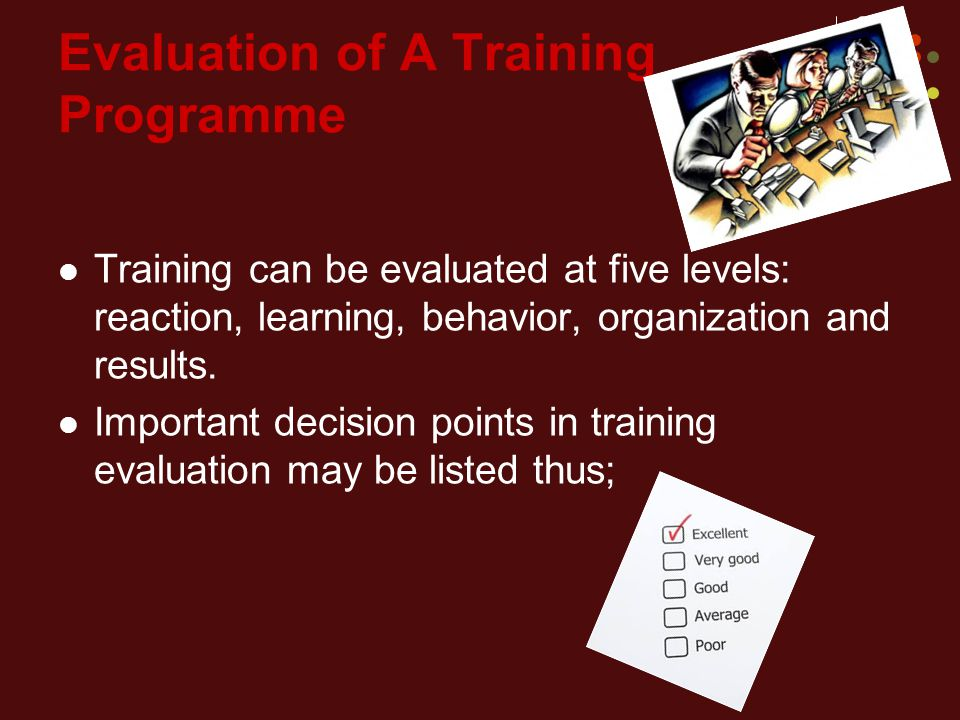 Evaluation of A Training Programme