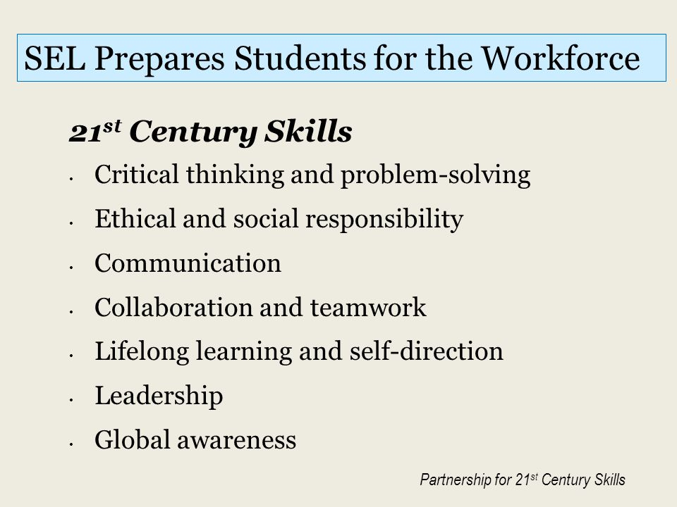SEL Prepares Students for the Workforce