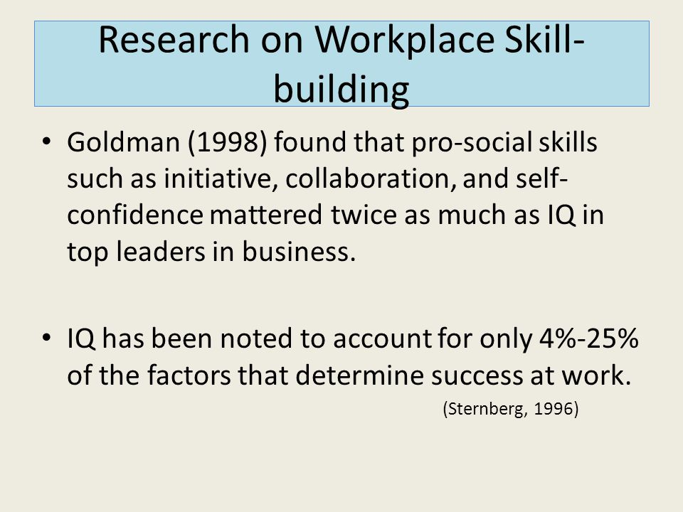 Research on Workplace Skill-building