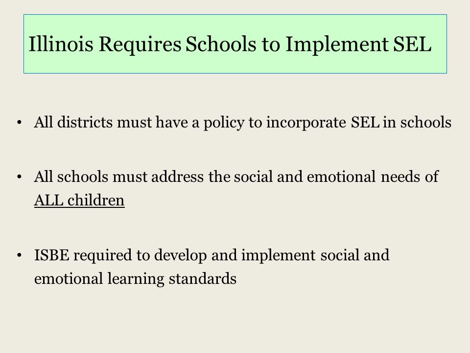 Illinois Requires Schools to Implement SEL