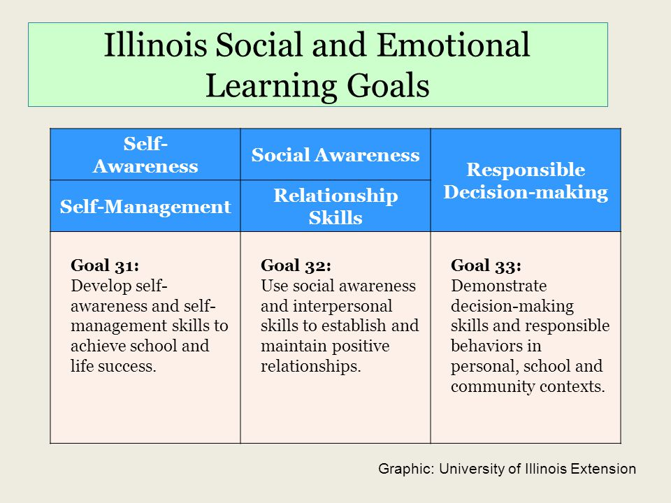 Illinois Social and Emotional Learning Goals