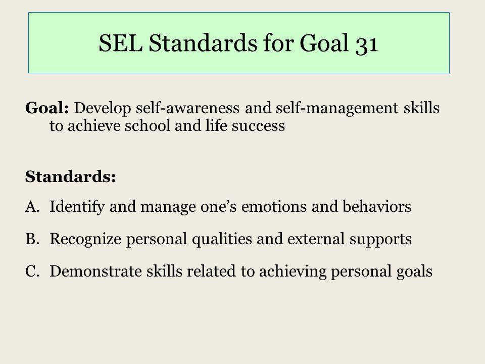 SEL Standards for Goal 31