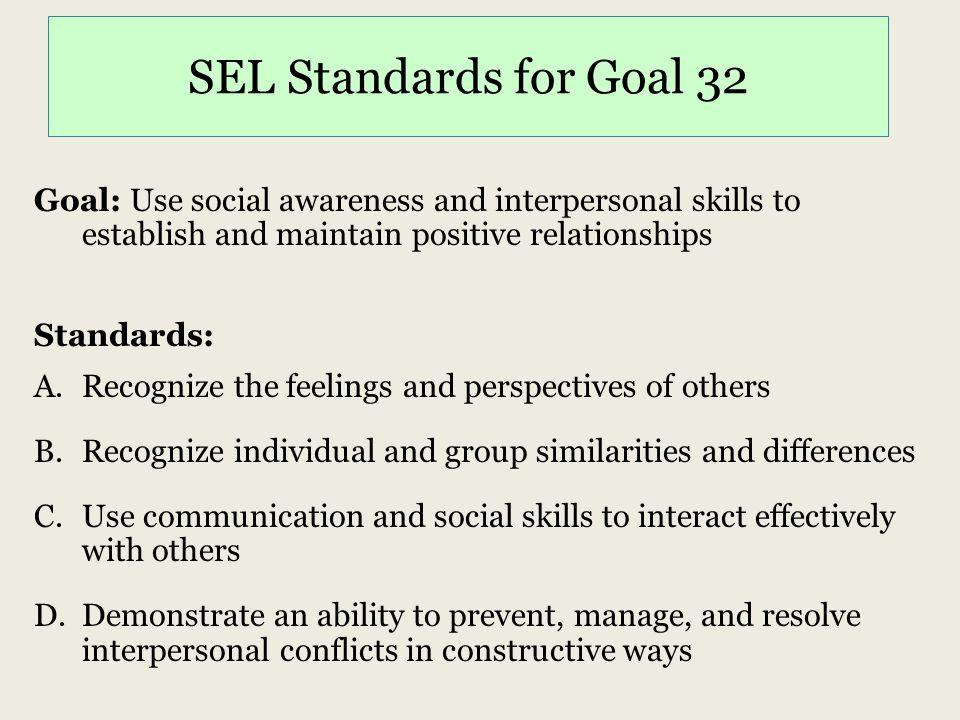 SEL Standards for Goal 32