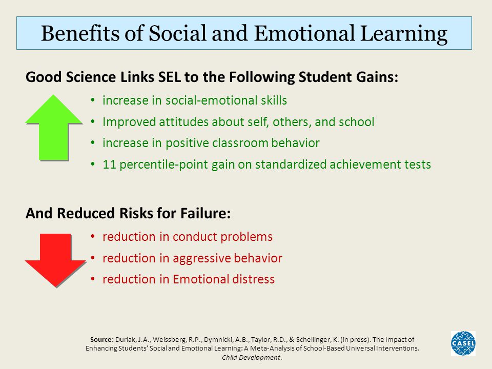 Benefits of Social and Emotional Learning