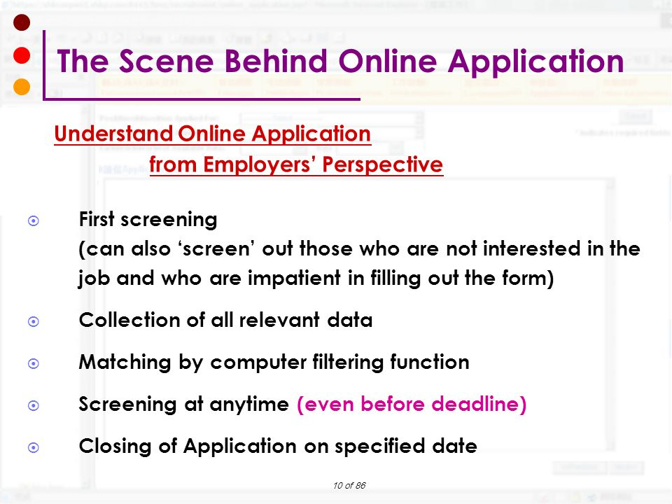 The Scene Behind Online Application
