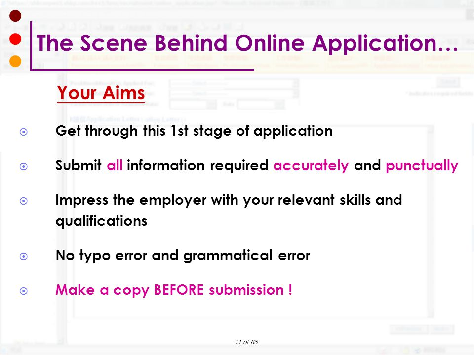 The Scene Behind Online Application…