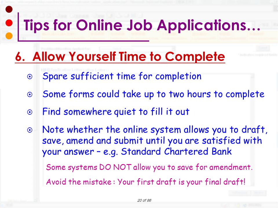 preparing your online job application workshop