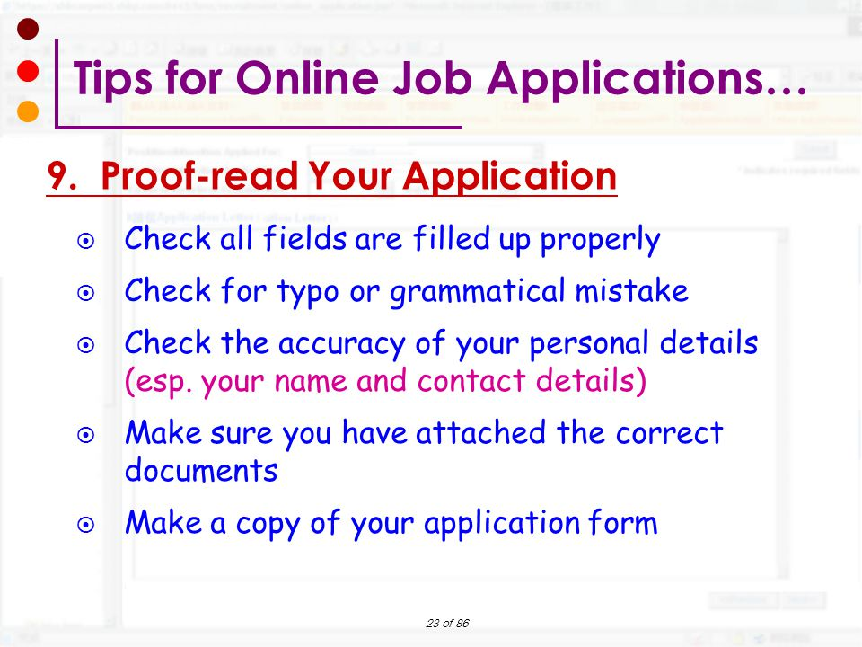 how to make a job application